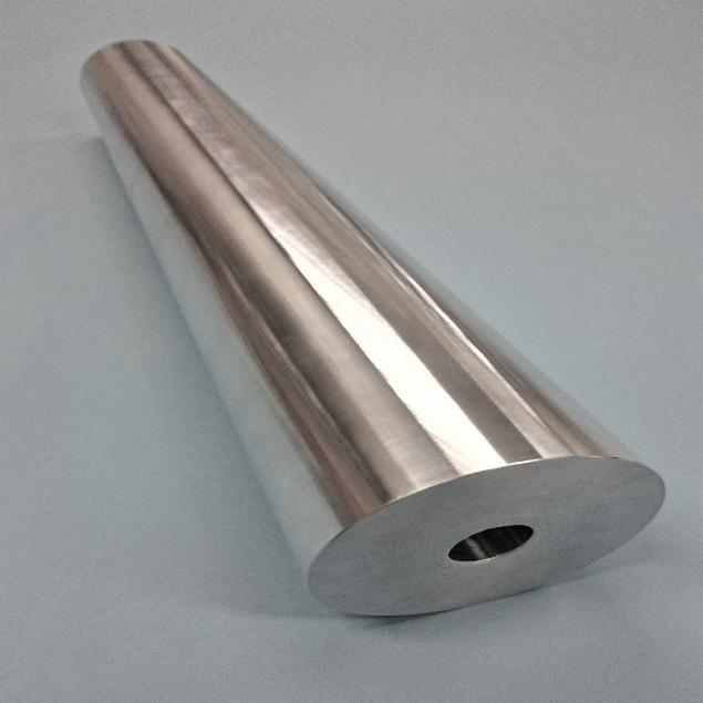 A5052アルミ丸棒 貫通孔、テーパ加工